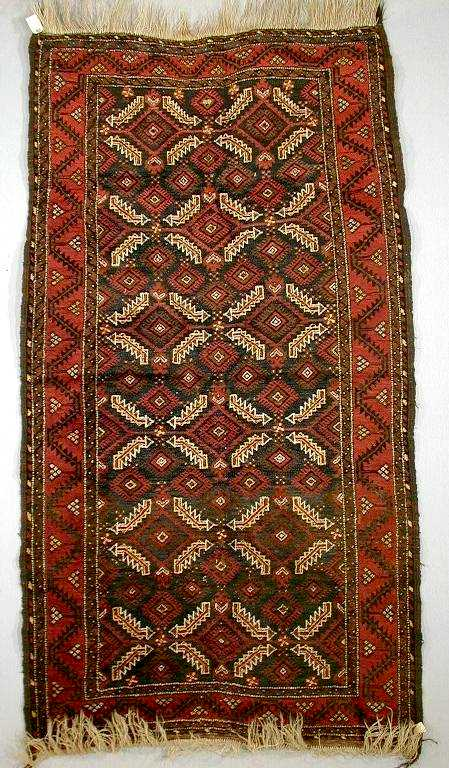 Salar Khani Baluch Rug C 1900 Lot 491