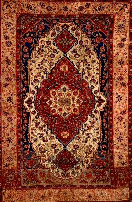 Motasham Kashan Rug late 19th century Lot 118 Skinners Oct 2005