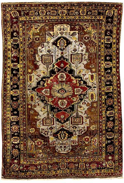 Kashan Rugs Silk Kashan Mohtasham Rug C 1900 Lot 13