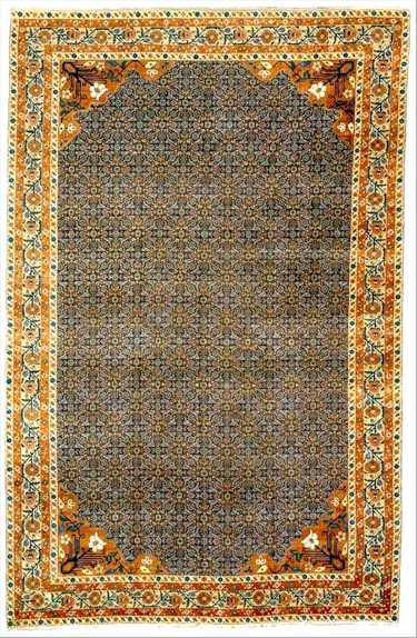 Tabriz Rugs: Herati Pattern PETAG Tabriz Carpet C. 1900 Lot 78