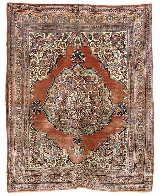 Tabriz Rugs: Antique Silk Tabriz Rug C. 1890 Lot 74