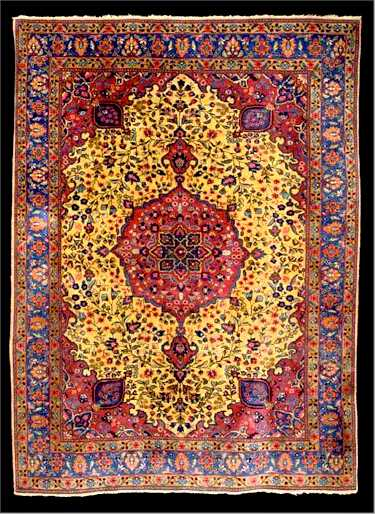 Tabriz Rugs: Tabriz Carpet C. 1920 Lot 1063